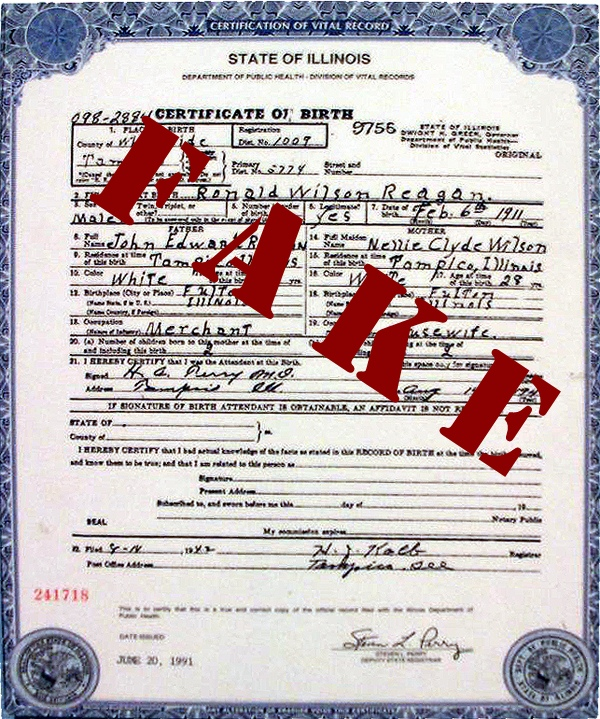 fake birth certificates